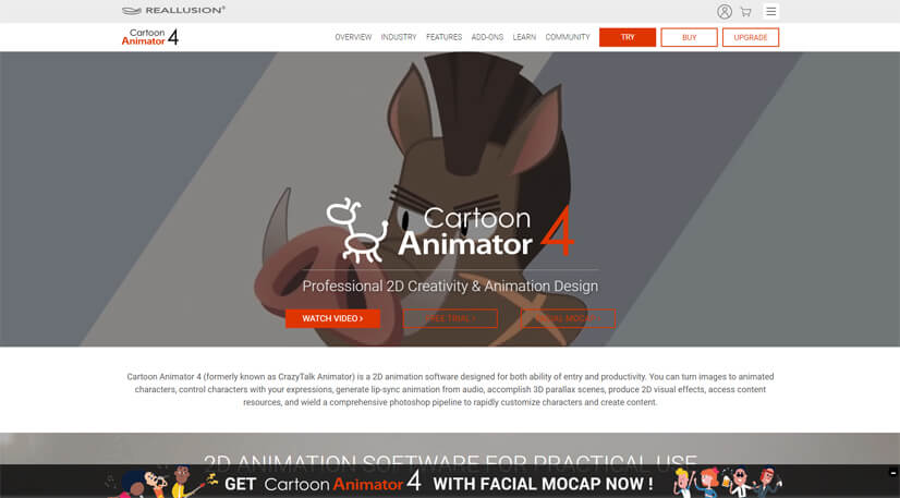 facial animation software: Cartoon Animator 4