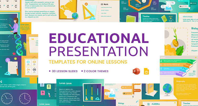 Free education Presentation Templates for Online Teaching
