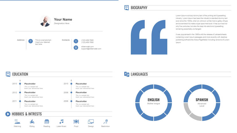 Multi-Slide Resume PowerPoint Template