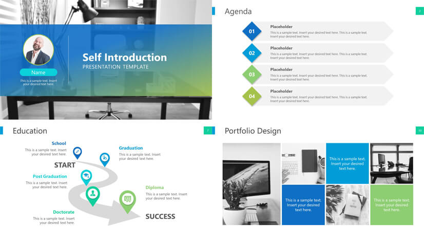 Self Introduction Resume PowerPoint Template