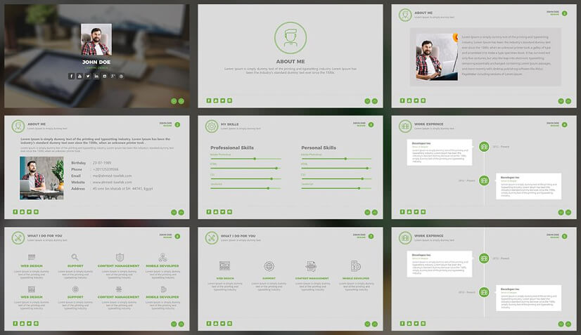Creative Resume PowerPoint Template