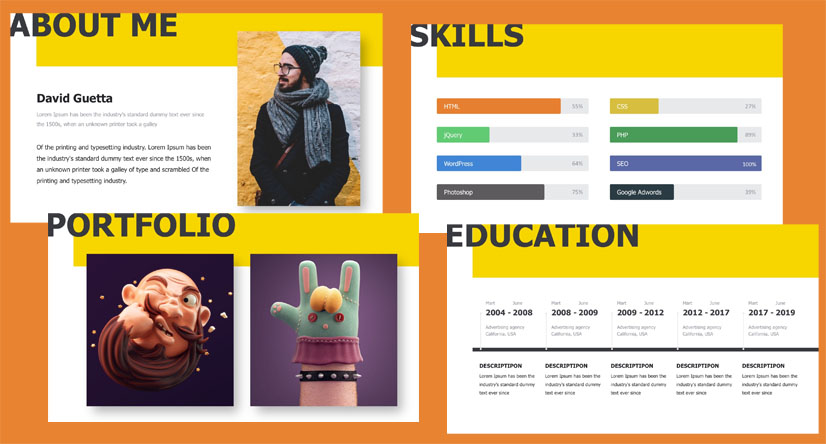 Free Modern Resume PowerPoint Template