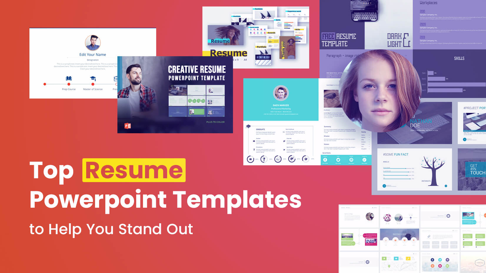top resume powerpoint templates to help you stand out
