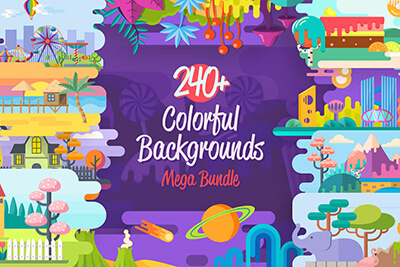 Colorful Flat Background Graphics Mega Bundle