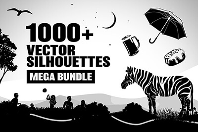 Vector Transparent Silhouettes Mega Assets Bundle
