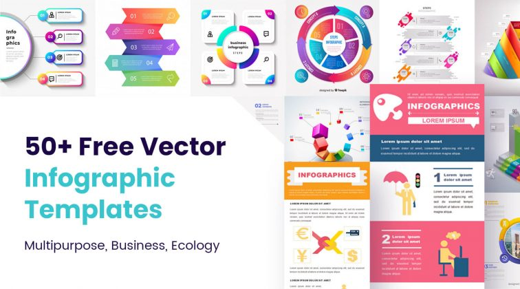 50 free vector infographic templates to download now: multipurpose business ecology