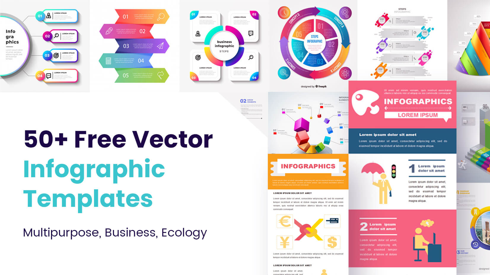 50 Free Vector Infographic Templates Multipurpose
