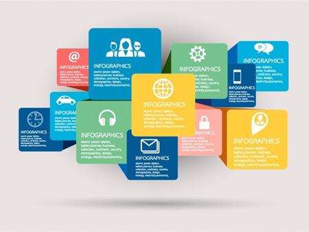 Infografías editadles gratis: Vector de plantilla de infografía