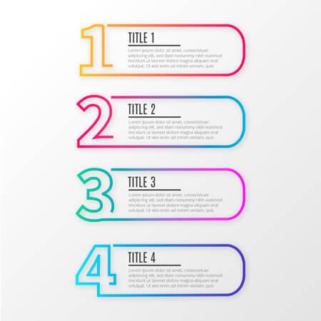 vector libre de infografía simple: 4 pasos