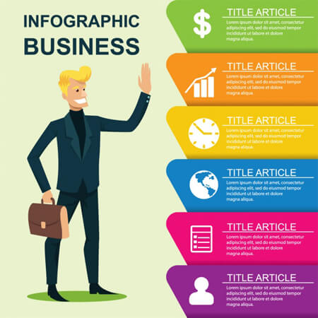 vector libre: plantilla de infografía empresarial con carácter