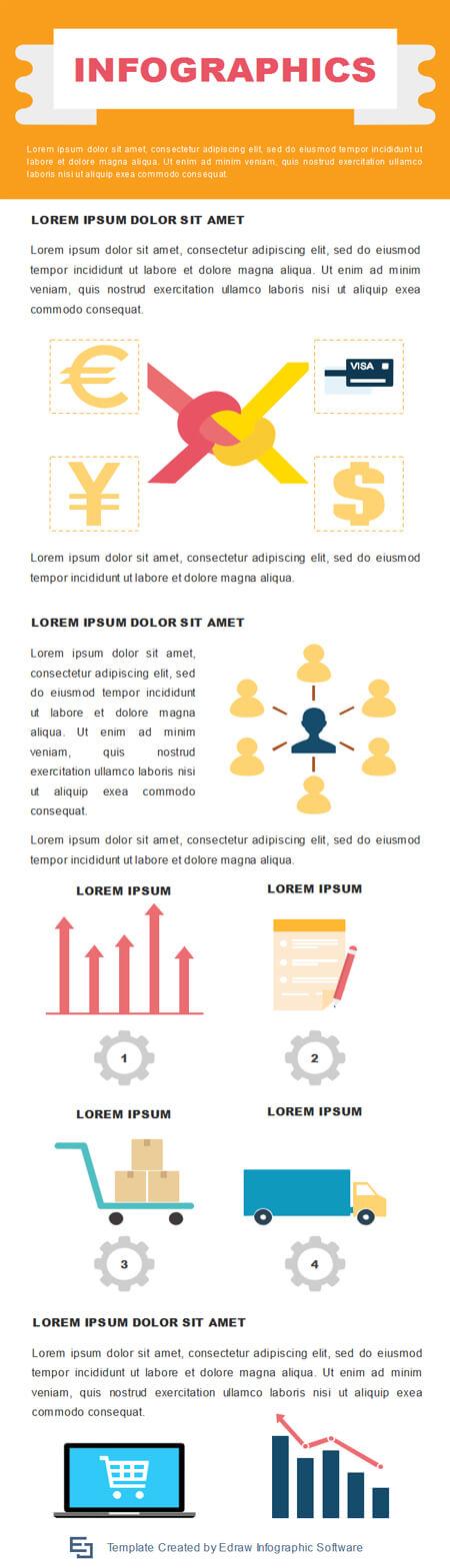 plantilla de infografía completa gratuita work-process-infographic