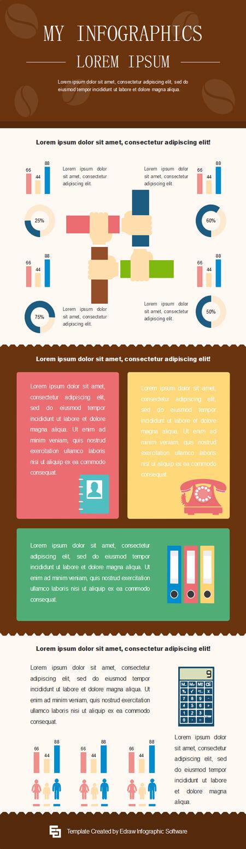 plantilla de infografía completa gratis infografía trabajadora