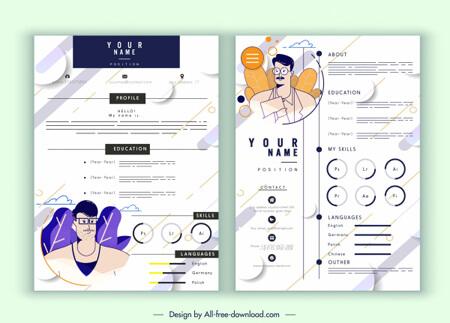 Infografías editadles gratis: plantilla de infografía de curriculum vitae de vector libre decoración blanca elegante moderna