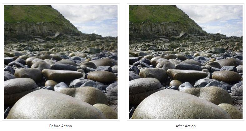 Reduce Motion Blur Photoshop Action