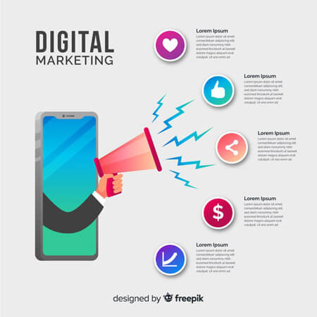 plantilla de infografía de vector libre: infografía de marketing digital