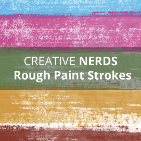 Rough paint strokes smudges free Photoshop brushes set