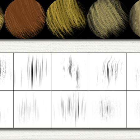 16 Free Fiber Photoshop Brushes