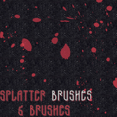 Free Splatter Photoshop Brushes