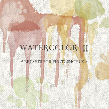 9 Free Watercolor Photoshop Brushes