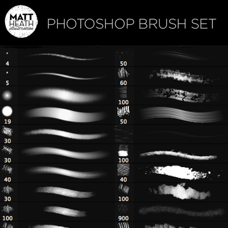 Matt Heath's Free Photoshop Brushes