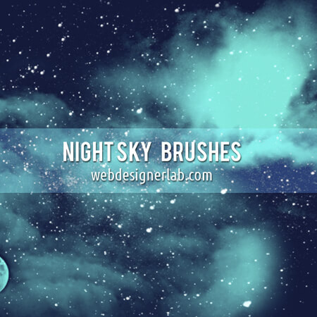 Night Sky Free Brushes for Photoshop
