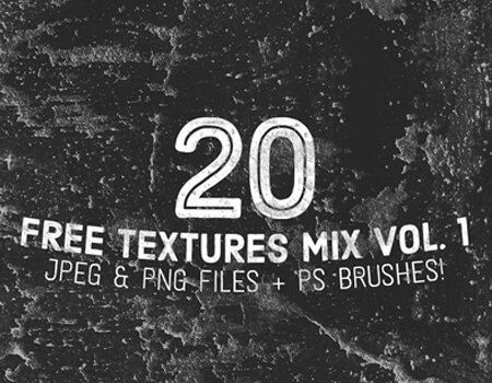 20 Free Textures Mix Vol. 1 for Photoshop