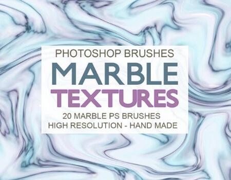 20 Marble Texture PS Brushes