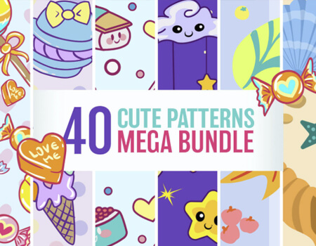 Free Cute Patterns - Mega Bundle