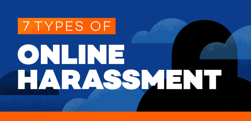 The best infographic designs in 2019 - Types of Online Harassment
