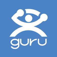 Hire freelance designer guru logo