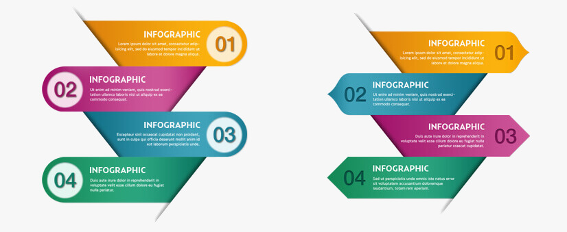 Free PSD Infographic Templates - numbers and steps