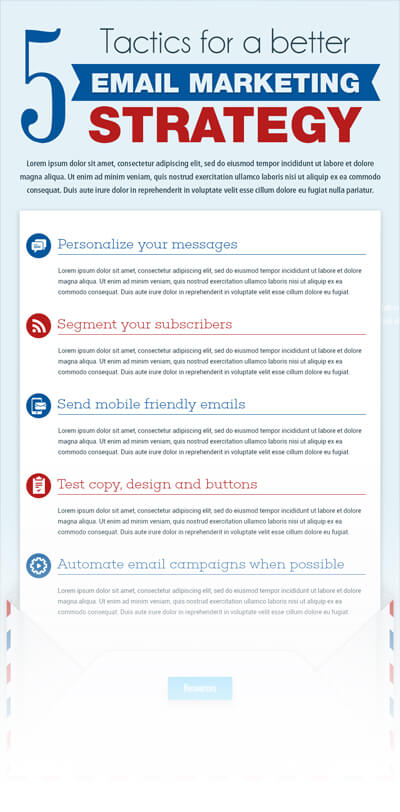 Free PSD Infographic Templates - Email Marketing Strategy