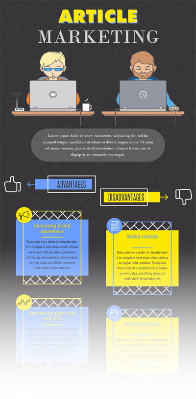 Free PSD Infographic Templates - Article Marketing