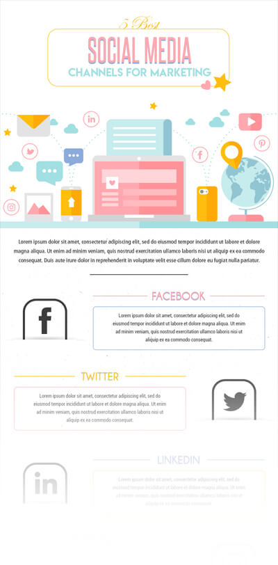 Free PSD Infographic Templates - Social Media