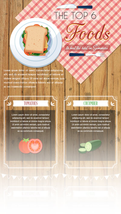 Free PSD Infographic Templates - Top Foods
