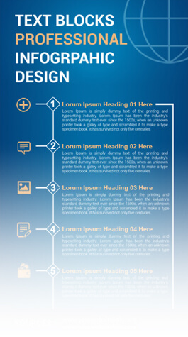 Free PSD Infographic Templates - Text Blocks Professional