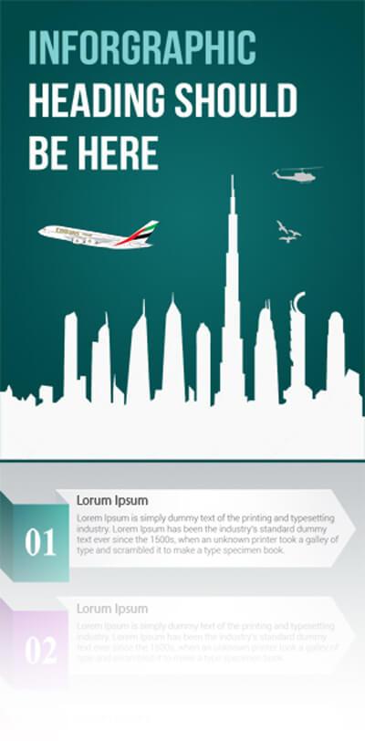 Free PSD Infographic Templates - Dubai Infographic Design