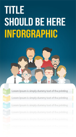Free PSD Infographic Templates - List of Anything Infographic