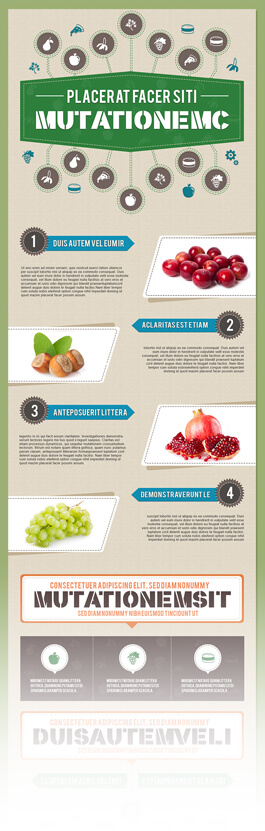 Free PSD Infographic Templates - FOOD AND NUTRITION