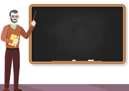 TEACHER AND CHALKBOARD Clipart