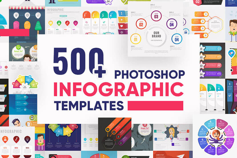 Infographic Photoshop Templates in PSD