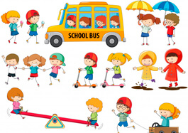 Free School Clipart - Set of Doogle Kids Clipart