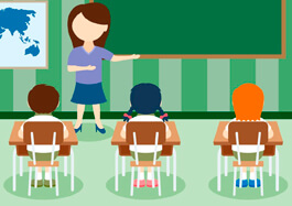 Free School Clipart - Unique Classroom With Kids Vectors
