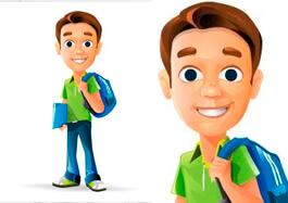 Free Schoolboy Vector Character