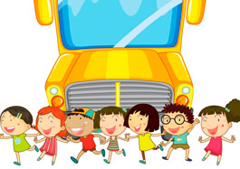 Children And School Bus Clipart