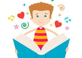 Boy Reading Book Clipart