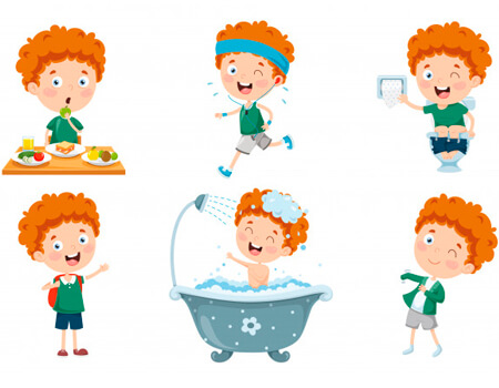 9 Clipart Illustrations of Cartoon Kid