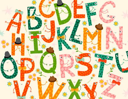 Funny Alphabet Letters Set