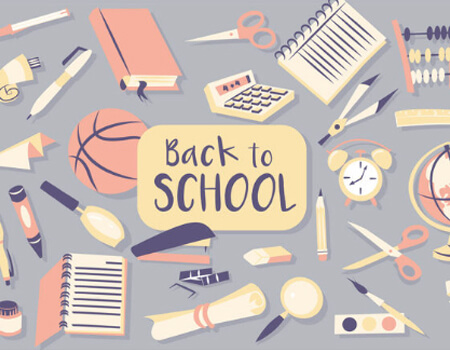 Back to School Items Vector Design