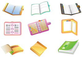 SCHOOL SUPPLIES CARTOON ICON